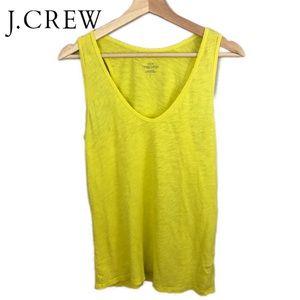 J. Crew vintage cotton tank top - yellow